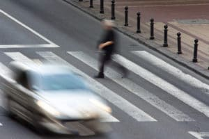 Pedestrian in an accident