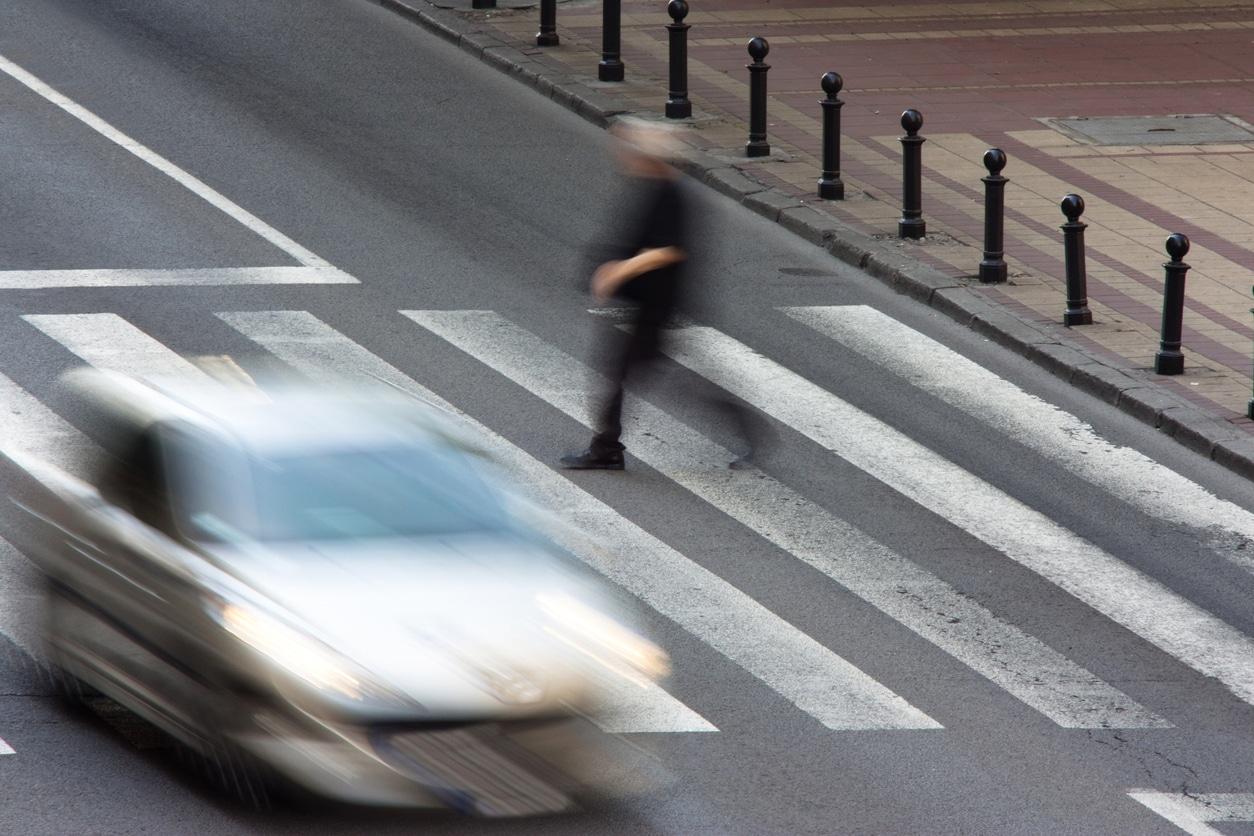 Pedestrian in an accident