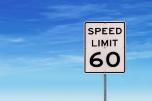 Speed Limit 60 Road Sign