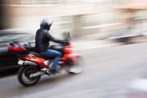 motorcycle in motion blur